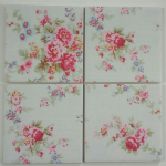 4 Ceramic Coasters in Cath Kidston Washed Roses